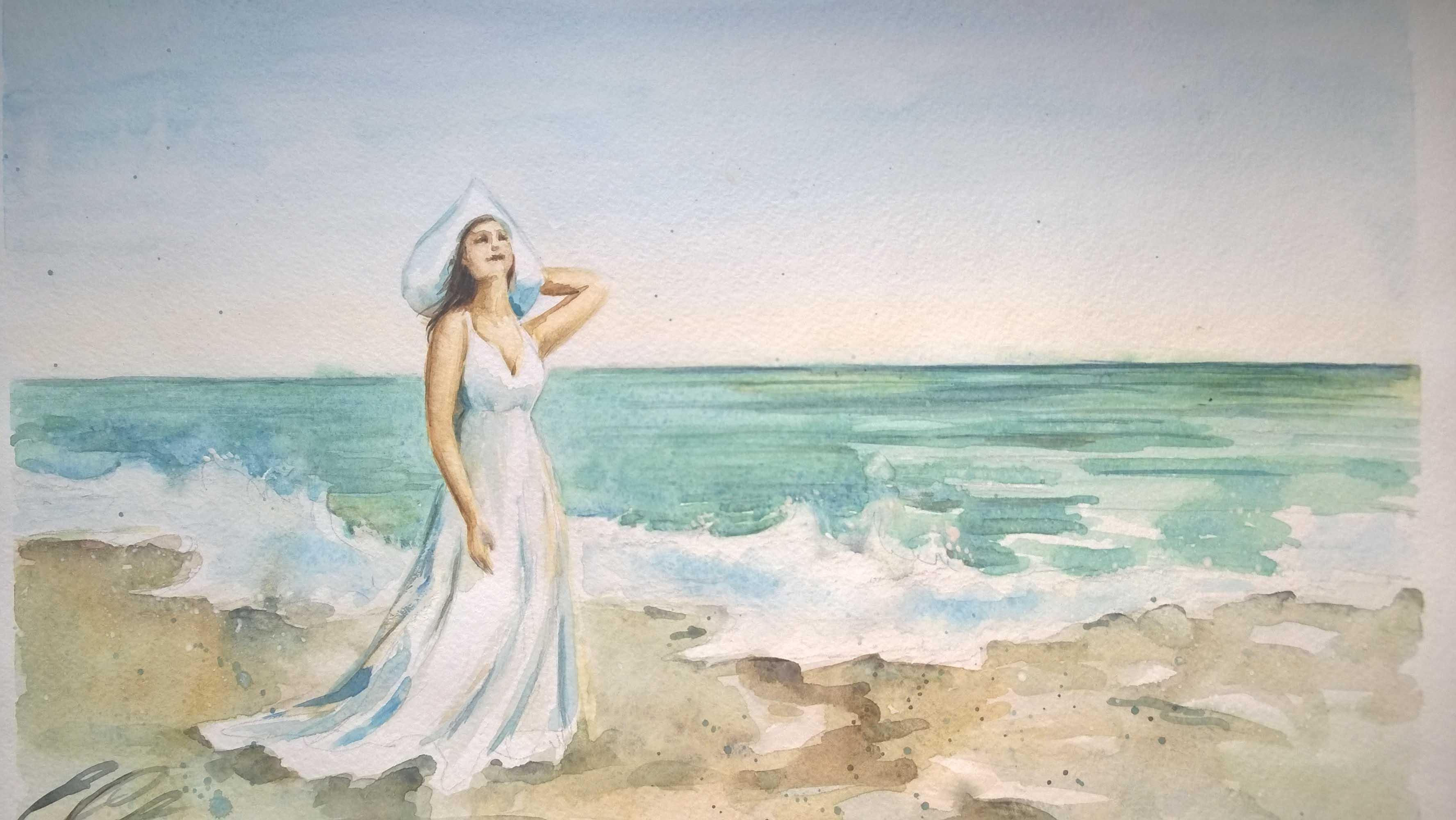 Kattys - La femme sur la plage